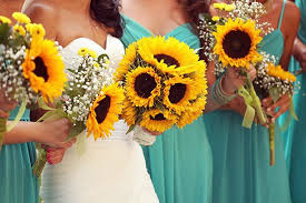 sunflower wedding decorations sunflowers as outdoor wedding decor