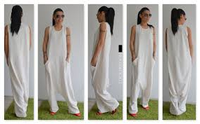 white plus size jumpsuit white jumpsuit harem jumpsuit harem womens jumpsuit