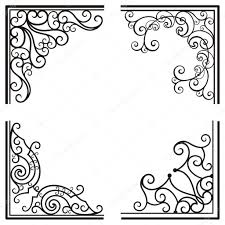 exquisite corner ornamental designs stock vector clipart