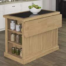Home Styles Nantucket Kitchen Island Kitchen Island Bar Stools Black Distressed Oak Finish Kitchen