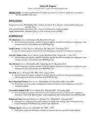 Server Job Description For Resume by Resume Sample Restaurant Waiter Virtren Com