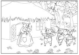 fresh 3 pigs coloring pigs pages cecilymae