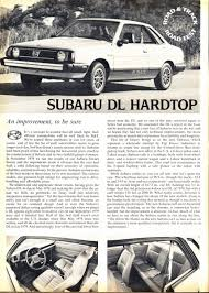 subaru station wagon 1980 vintage road test subaru dl hardtop