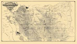 Richmond Zip Code Map by Old Topographical Map Contra Costa California 1871