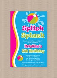 pool party birthday invitation pool party by cutiestiedyeboutique