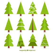 collection of geometric christmas tree vector free download