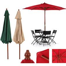 Cheap Beach Umbrella Patio 52 Ikayaa Us Stock Wooden 2 7m Font B Patio B Font