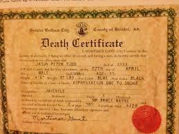 jason todds death certificate comicbooks