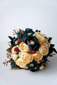 Shabby Chic Bridal Bouquet by Bridal Bouquet Blue And Champagne Ranunculus Silk Wedding