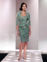 Mother Of The Bride Classic Sweetheart Knee Length Green Taffeta Sheath Column Mother