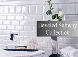 beveled edge subway tile backsplash