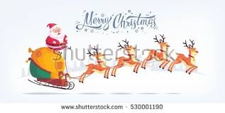 snow vector christmas illustration with santa download free