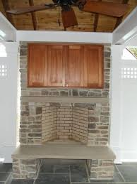 Build Outdoor Tv Cabinet Enjoy The Winter With An Outdoor Fireplace Ask The Landscape Guy