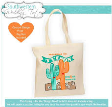 customized wedding gift destination wedding bag western wedding wedding favor cactus
