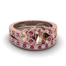 rose gold wedding set amethyst 18k rose gold wedding sets engagement rings fascinating diamonds