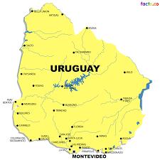 South America Political Map Uruguay Map Blank Political Uruguay Map With Cities South America