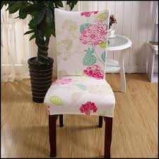 dining room patterned dining room chair covers flowers design