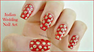 indian wedding polka dot nails indiannailart youtube
