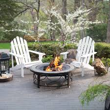 Patio Furniture With Fire Pit Set - belham living richmond deluxe 5 piece adirondack chair fire pit