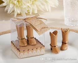 wedding salt and pepper shakers boot salt pepper shakers ceramic wedding favors cowboy boot