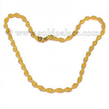gold braided chain necklace images Braided ladies gold chain necklace 22kt 23 0 inches gold palace jpg