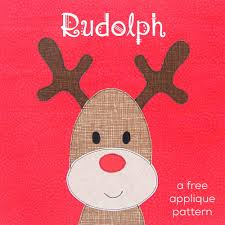 rudolph red nosed reindeer free applique pattern shiny