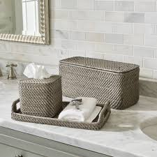 bathroom accessories sedona grey bath accessories crate and barrel