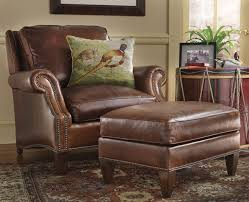 Leather Armchair With Ottoman Magnificent Leather Chair And Ottoman Set About Remodel Office