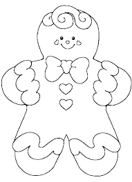 gingerbread coloring page free download