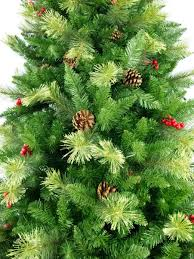 trees with pine cones lights decoration