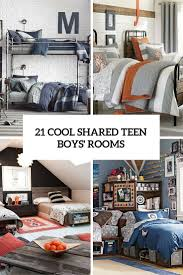 teenage room 21 cool shared teen boy rooms décor ideas digsdigs