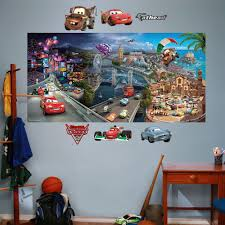 pixar cars 2 mural wall decals by fathead disney pixar cars 2 mural wall decals by fathead