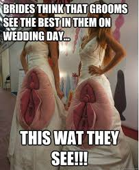 Wedding Day Meme - brides think that grooms see the best in them on wedding day