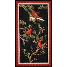 Cardinal Bird Home Decor by The Cardinal Rule Craft Panel Multi Discount Designer Fabric