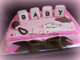 monkey and letter pink brown baby shower cake ideas for with