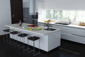 exellent modern white kitchen island n and decor pertaining to