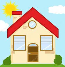Ziegelhaus Haus Cartoon U2014 Stockvektor 61064107