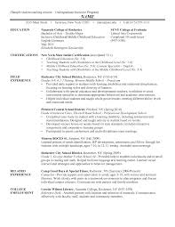 Certification Letter Of Recommendation Sle Undergraduate Resume Template Word Free Resume Example And