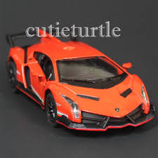 Lamborghini Veneno Quantity - kinsmart lamborghini veneno 1 36 diecast toy car orange ebay