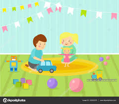 Kids Playroom Furniture by Kids Playroom With Light Furniture Decor Playground And Toys On