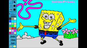 spongebob paint color games spongebob painting games