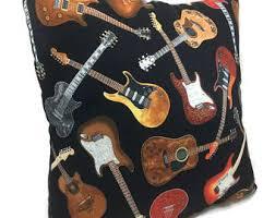 Guitar Home Decor Guitar Pillow Etsy