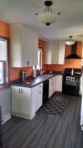 remodeled kitchens with white cabinets perham mn kitchen remodel orange wall white cabinets