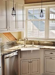 Farm Sink Kitchen Uncategorized Corner Farmhouse Sink In Exquisite Home Design