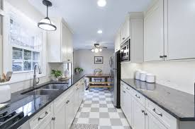 how much is a galley kitchen remodel modern white galley kitchen rhode kitchen bath design build