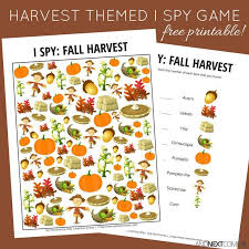 themed l fall harvest themed i free printable for kids