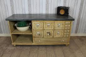 edwardian pine shabby chic zinc top sideboard antiques atlas