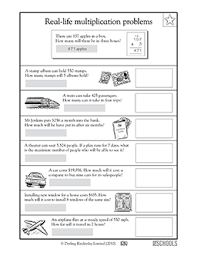 fourth grade math word problems worksheets worksheets