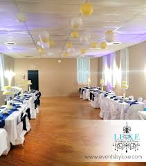 royal blue yellow and white birthday party decor luxe weddings
