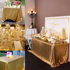 cheap wholesale table linens cheapest wholesale 10pcs sparkly 90x156in gold sequin tablecloth